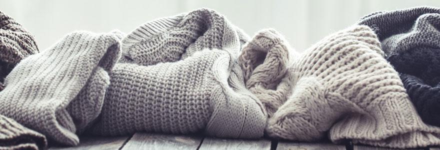 Vêtements en laine mérinos